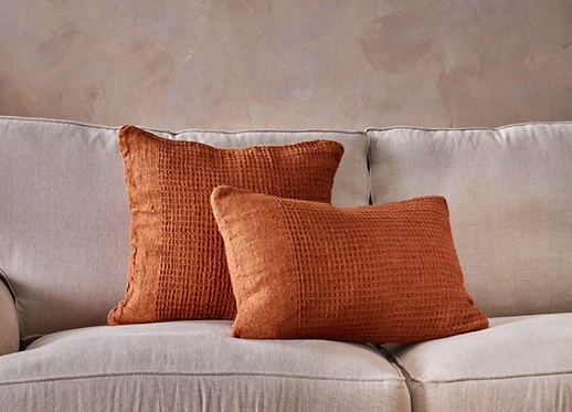 Kadin Cushion Cover - Burnt Amber (Square due End May)