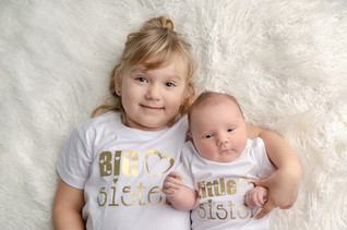 Newborn Photography Baby Jasmine and sibling Bicester baby photo