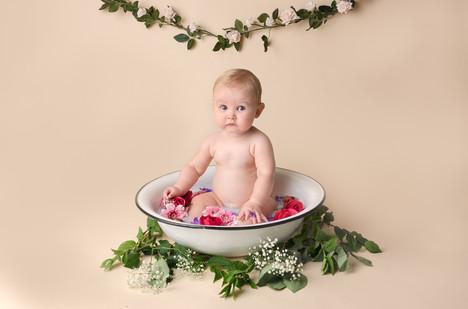 Baby Photography flower bath in Buckingham Penelope