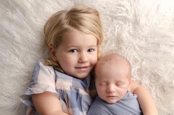 Newborn Photography Baby Caleb & sibling Milton Keynes baby photo shoot