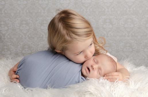 Newborn Photography Baby Caleb and sibling Brackley baby photo shoot