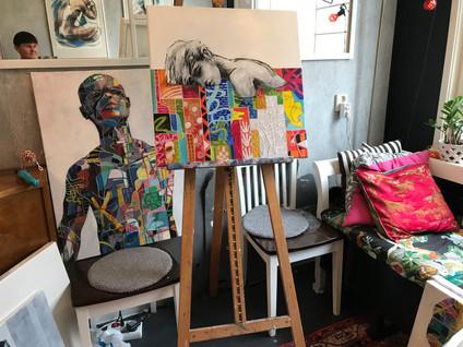 Burning man, portrait painting
