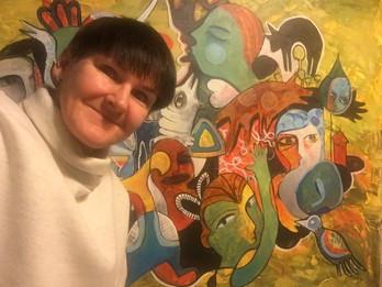 Kicki Edgren and her artwork