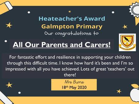 Headteacher's Certificate for all!