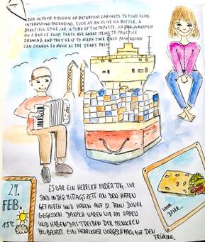 Ein Tag am Hamburger Hafen