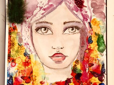 Whimsical Girl - Mixedmedia - Bild