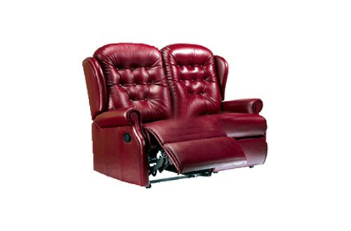 Sherborne Lynton Leather Small 2 Seater Manual Recliner Sofa