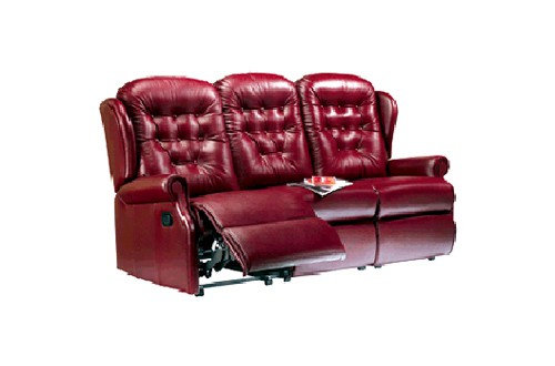 Sherborne Lynton Leather Small 3 Seater Power Recliner Sofa