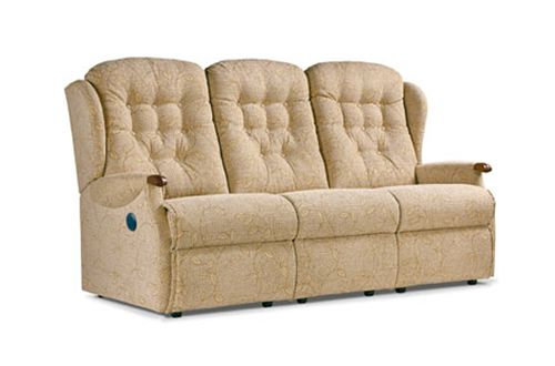 Sherborne Lynton Knuckle Small 3 Seater Powered Recliner Sofa