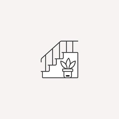 Escalier ou aire de circulation