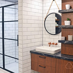 La salle de bain industrielle