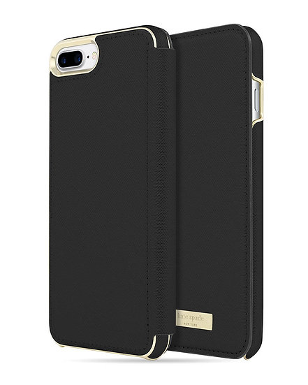 Kate Spade iPhone 6/6s/7/8 Plus Folio Case - Black