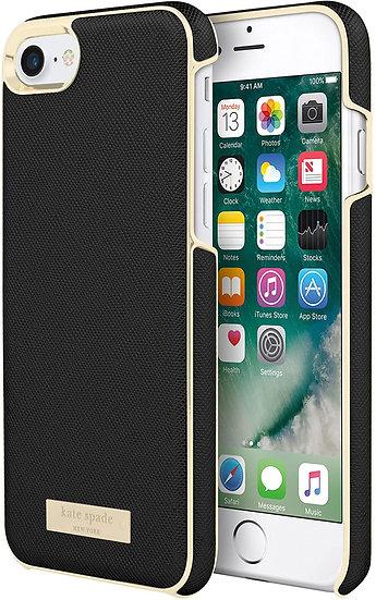 Kate Spade iPhone 6/6s/7/8 Wrap Case - Black & Gold
