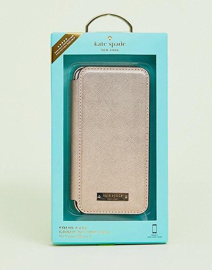 Kate Spade iPhone 6/6s/7/8 Folio Case - Gold
