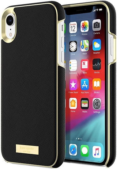 Kate Spade iPhone XR Wrap Case - Black