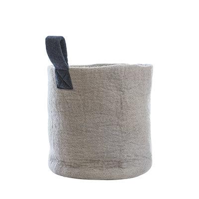 AVEVA, wool basket light grey