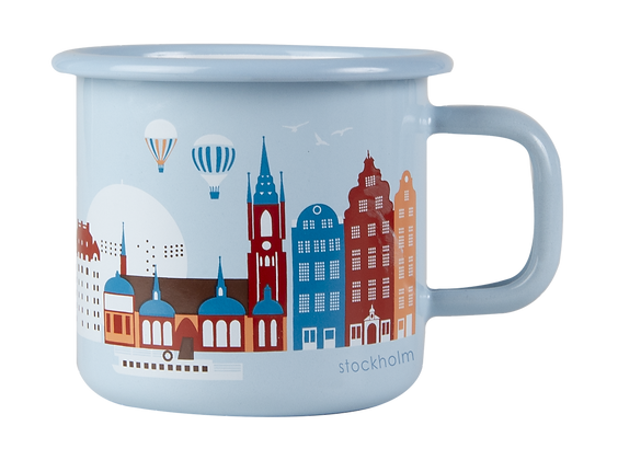 MUURLA, Stockholm enamel mug