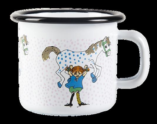 MUURLA, Pippi and the horse enamel mug