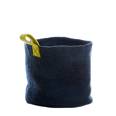 AVEVA, wool basket dark grey