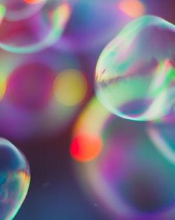 Las burbujas de colores