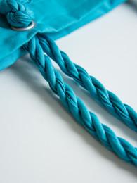 Printed rope handle bags