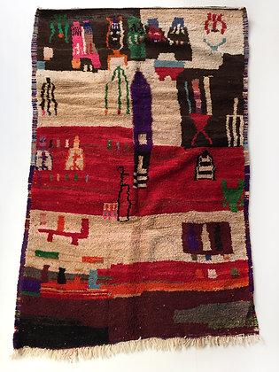 Tapis berbère Boujaad à motifs colorés 2,67x1,60m