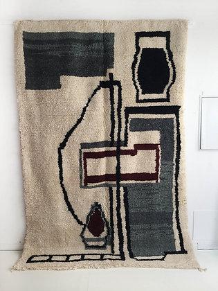 Tapis berbère Boujaad à motifs graphiques 2,75x1,89m