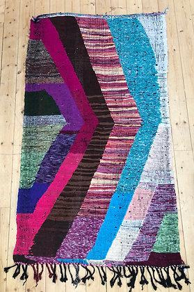 Tapis berbère Kilim Boucherouite 2x1,13m