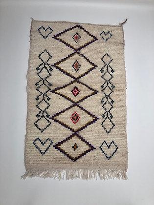 Tapis berbère Azilal coloré 1,51x0,99m