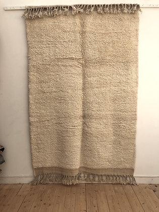 Tapis berbère Beni Ouarain uni sans motifs 2,46x1,60m