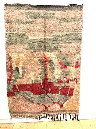Tapis berbère Boujaad coloris pastel 2,45x1,71m