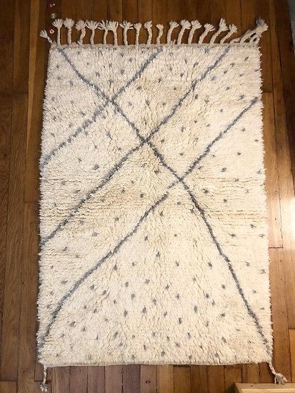 Beni Ouarain 1,4x1m gris