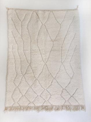 Tapis berbère Beni Ouarain uni à motifs géométriques gravés 2,05x1,50m