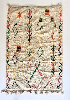Tapis berbère Azilal à motifs colorés 2,22x1,47m