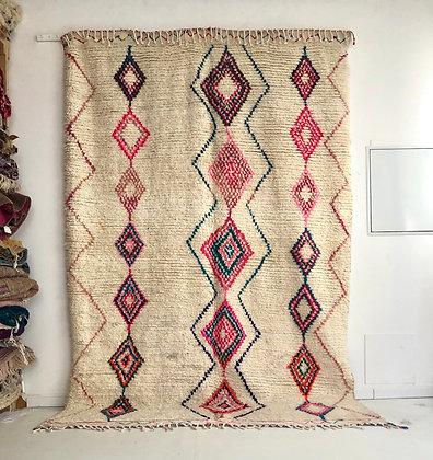 Tapis berbère Azilal à motifs colorés 3,09x2,06m