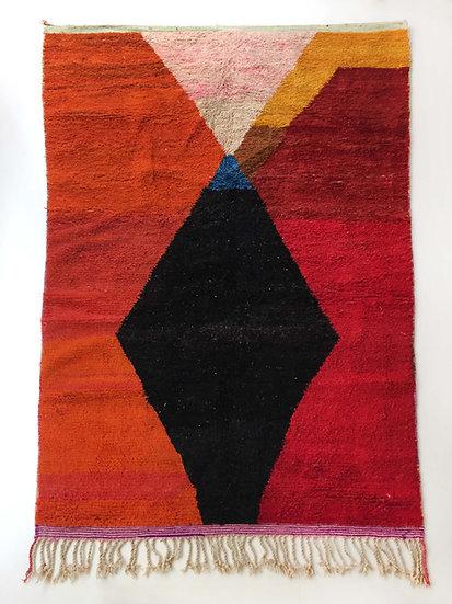 Tapis berbère Boujaad à aplats colorés 3,17x1,85m