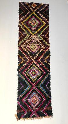 Tapis berbère Azilal ancien 2,64x0,7m