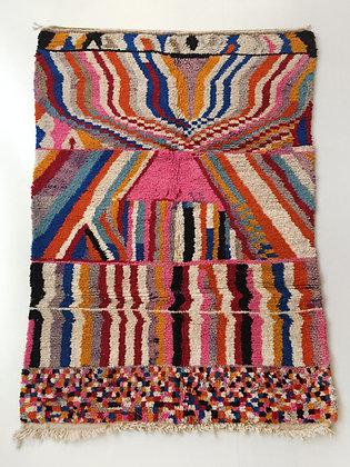 Tapis berbère Boujaad à motifs colorés 2,45x1,65m