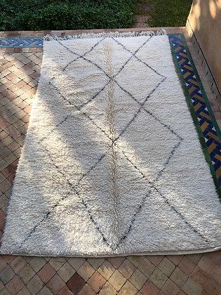 Beni Ouarain Marmoucha 2,74x1,74m losanges gris foncé