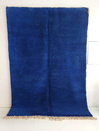 Tapis berbère Beni Ouarain bleu majorelle 2,87x2,03m