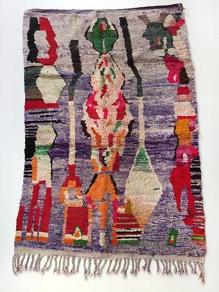 Tapis berbère Boujaad à motifs colorés 2,48x1,60m