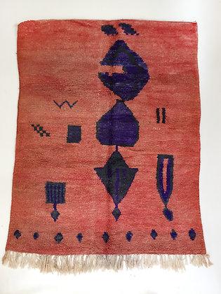 Tapis berbère Boujaad à motifs colorés 2,05x1,58m