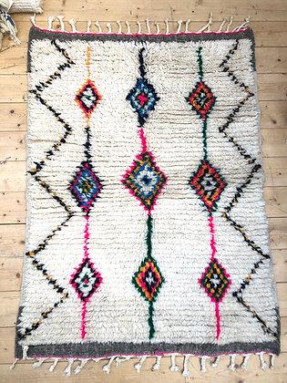 Tapis berbère Azilal à motifs colorés 1,41x1,03m