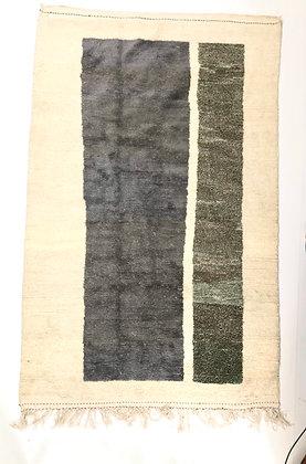 Tapis berbère Azial à aplats colorés 2,64x1,64m