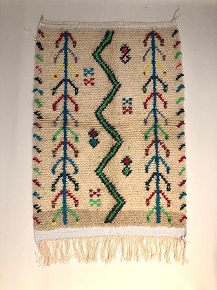 Tapis berbère Azilal à motifs colorés 1,38x0,9m