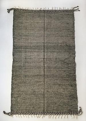 Kilim berbère Zanafi noir et écru 2,57x1,50m