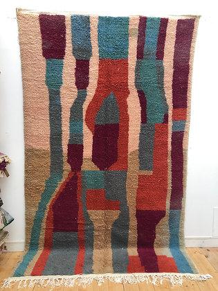 Tapis berbère Azilal à aplats colorés 3,13x1,87m