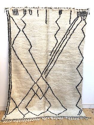 Tapis berbère Beni Ouarain à motifs graphiques 2,9x1,95m