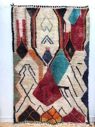 Tapis berbère Boujaad coloré 2,65x1,65m