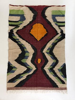 Kilim berbère coloré 2,41x1,47m